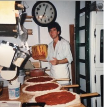Sebastian Malinow at American Dream Pizza 1985